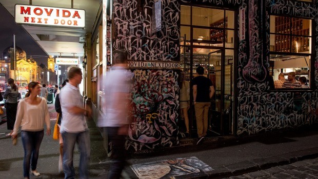 Movida, popular Tapas institution in Hosier Lane.