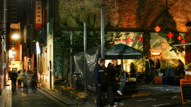 Why should Chinatown miss out on the Melbourne laneway fun? Tattersalls Lane is lined with old brick buildings and has ...