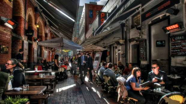 Hardware Lane: This brick-paved laneway can resemble a tourist trap with its insistent touts, but its outdoor seating ...