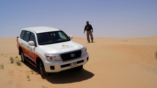 Arabian Adventures provide air-conditioned, off-road vehicles for a bit of dune bashing.