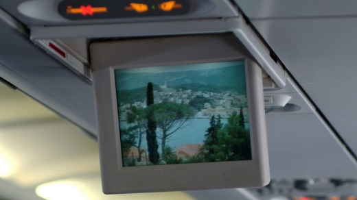 Promotional videos for Croatian destinations were played on overhead screens.