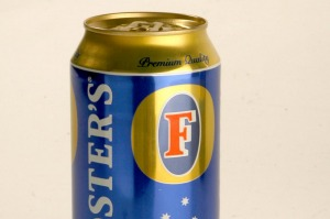 Foster's, it's Australian for beer ... except we don't drink it.