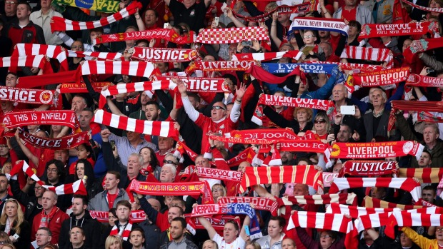 The faithful at Anfield.