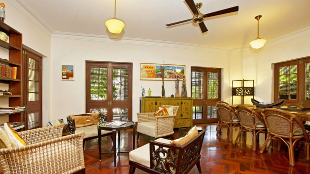 The colonial-chic feel of the luxurious Mandalay Darwin.