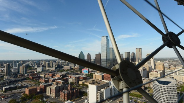 The view from  Reunion Tower.