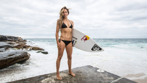 Surf's up: Australian pro surfer Sally Fitzgibbons.