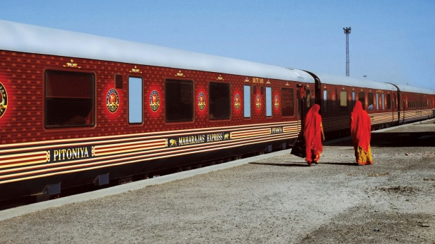 THE MOST EXPENSIVE TRAIN JOURNEY IN THE WORLD: The Maharajas' Express can cost $3385 per night, per passenger.