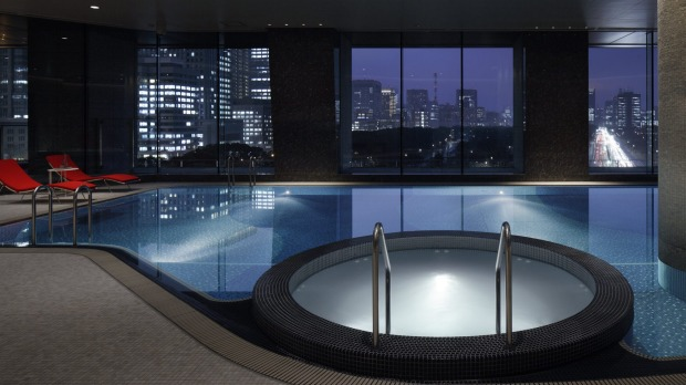 The Palace Hotel pool.