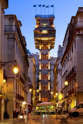 SANTA JUSTA ELEVATOR, LISBON, PORTUGAL: Beauty and functionality combine in this short ride that hoists you 45 vertical ...