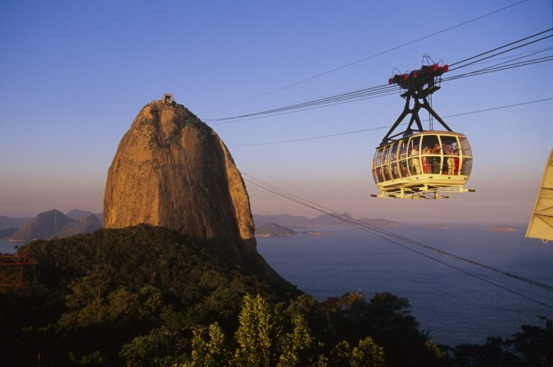 SUGARLOAF CABLE CAR, RIO DE JANEIRO, BRAZIL: It's the ultimate view over Rio de Janeiro, a panoramic vision that ...