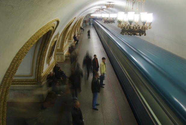 MOSCOW METRO, RUSSIA: Gleaming, efficient and scrupulously clean, these stations are a propaganda monument to Soviet ...