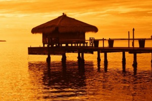 Hilutongan fisherman  make better money offering accommodation in thatched huts on stilts