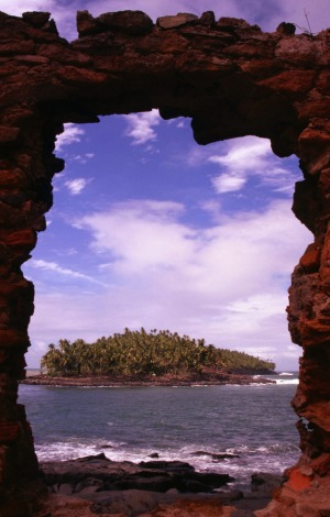 By the book: Looking through the keyhole from Iles du Salut to Ile du Diable (Devils Island).