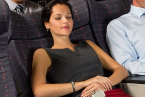 It's not hard to ask the person behind you before reclining your seat.
