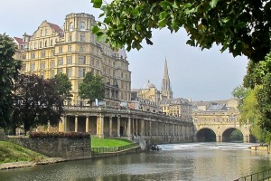 Bath and the Avon River  from the Queensberry Hotel.