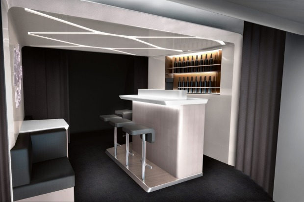 From November 2015, Virgin Australia's Boeing 777 jets will get a revamped business class bar to go with their new ...