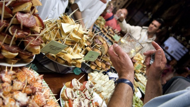 San Sebastian, Spain: Every single bar in San Seb - every one - does amazing food, from simple prawns on skewers to ...