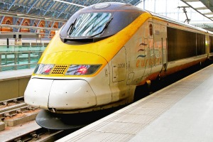 The Eurostar service at St. Pancras Station in London.