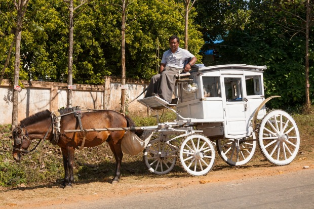 STAGECOACH, PYIN U LWIN, MYANMAR: Pyin U Lwin, formerly  Maymyo, is a one-time British hill station set in cool, moist ...