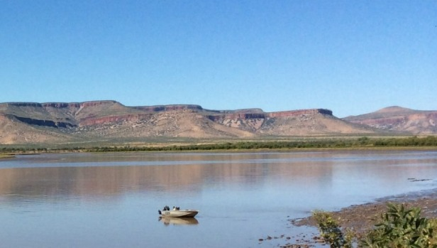 The view of the Pentecost River from Home Valley Station.