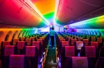 DREAMLINER 787 VS AIRBUS A350: The interior of a Boeing 787 Dreamliner operated by Scoot.