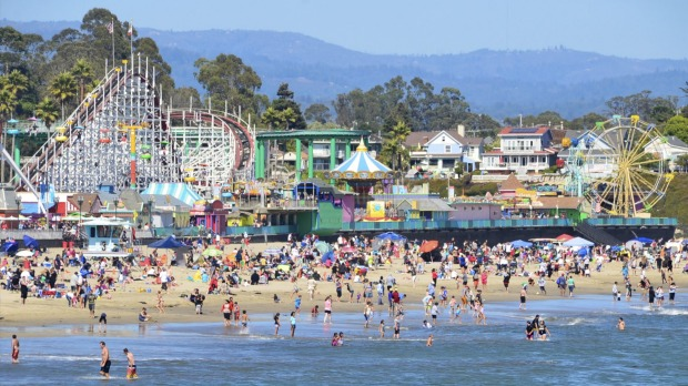 Number 3: USA. Pictured, Santa Cruz, with its famous boardwalk.