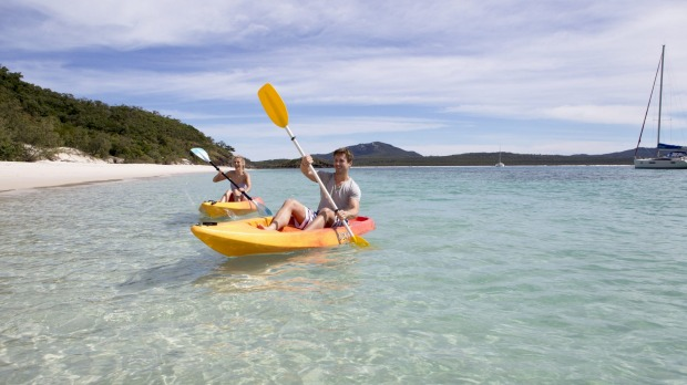 Go for a paddle over crystal clear waters with one of the resort's free kayaks.