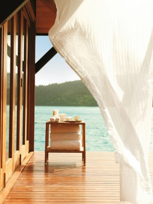 Get pampered by the sea in one of Hamilton Island's many spas.