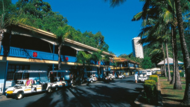 Drive a golf buggy to the main shopping district and browse boutiques and designer brands.