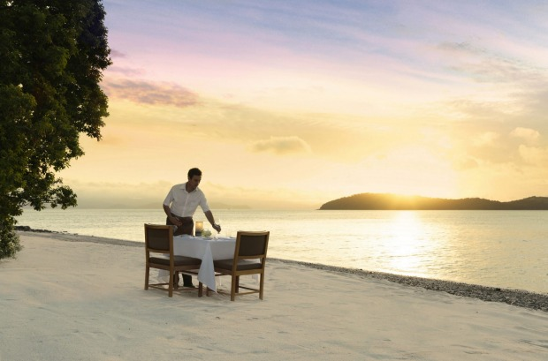 6. Dinner on Pebble Beach at sunset at Qualia Resort, Hamilton Island.