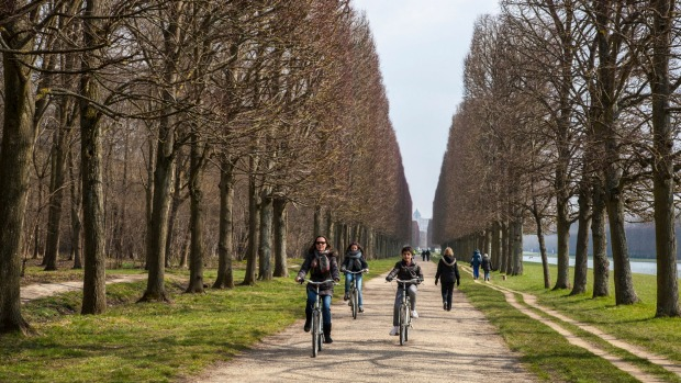 PARIS TO VERSAILLES: This 9-hour day trip guides you by bike through the royal forest, Marie Antoinette's village, and ...