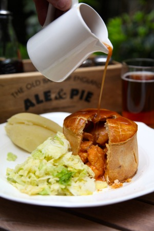 Chicken and chorizo pie at The Old Bank of England.