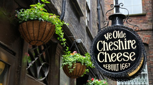 Ye Olde Cheshire Cheese, in London.