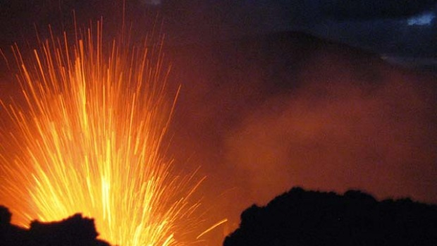 Spark will fly ... a spectacular eruption on Mount Yasur in Vanuatu.