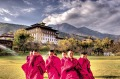 One of the King of Bhutan's own personal photos is being used to showcase 'the happiest country on Earth'.