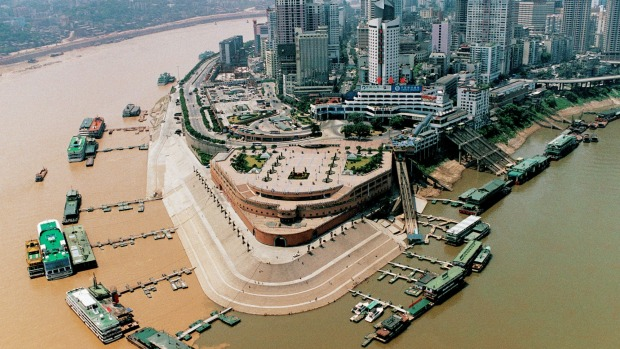 Chongqing, China: The Yuzhong Peninsula where Jialing River joins the Yangtze River in southwest Chinas' Chongqing ...