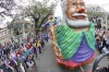 The Krewe of Okeanos rolls down St. Charles Avenue during a Mardi Gras parade in New Orleans, Louisiana.