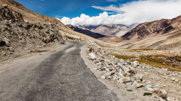 Khardung La Pass, India: Drive over this winding mountain pass in the Indian state of Jammu and Kashmir, widely believed ...