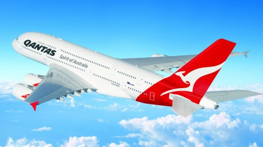Qantas' Airbus A380-800s are used on many long-haul flights.