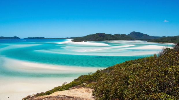 9: Whitehaven Beach, Whitsundays, Queensland.