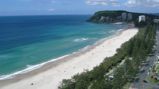 4: Burleigh Heads Beach, Queensland.