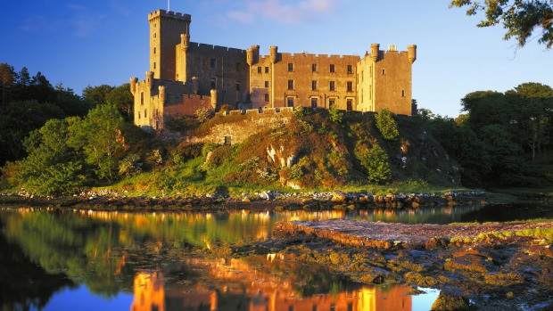 Skye, Scotland: Dunvegan Castle has been the home of the chiefs of the Clan McLeod for 800 years.
