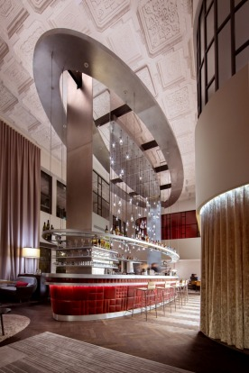 The Virgin Hotel's 'Commons Club' features a cocktail lounge called the 'Shag Room'.