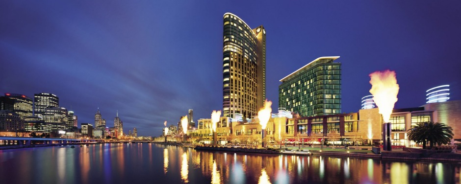 Crown Towers is located on the banks of Melbourne's Yarra River.