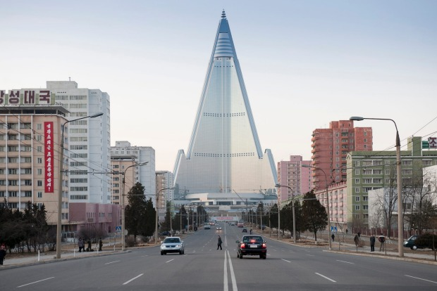 SCENES FROM INSIDE NORTH KOREA. The Ryugyong hotel in Pyongyang was intended to be the world's largest hotel, but it is ...