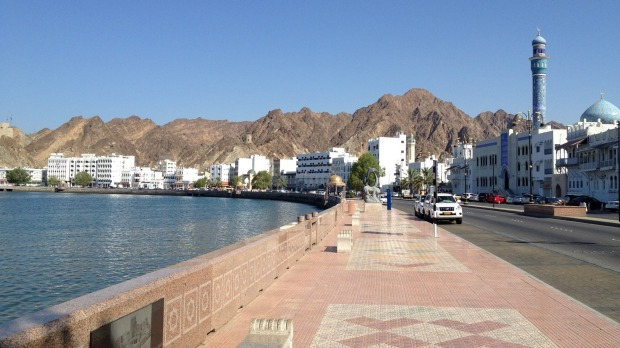 Safe harbour: The promenade curves around the protected cove of Muttrah.