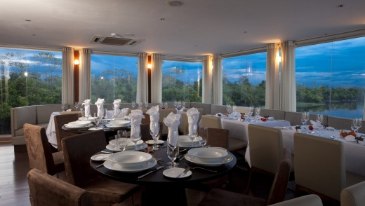 Meals by Pedro Miguel Schiaffino are served up in a dining room with a view.