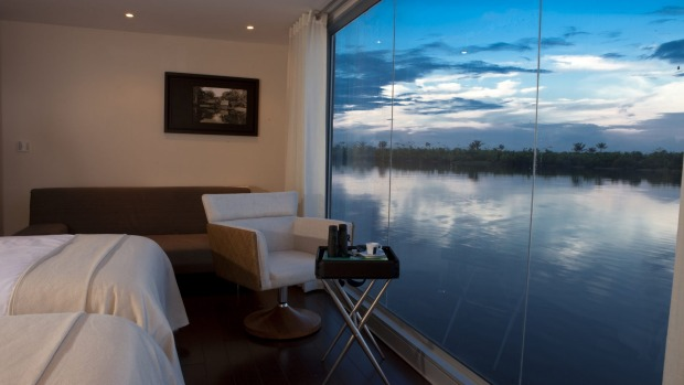 Even in the Aria's suites, the Amazon is right there.