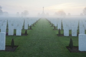 The vast cemeteries are reminders of how many people died at Flanders.