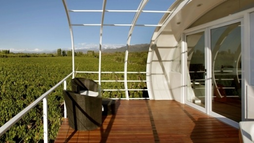 Between heavens: Positioned near vineyards, Entre Cielos is a half-hour's drive from Mendoza.